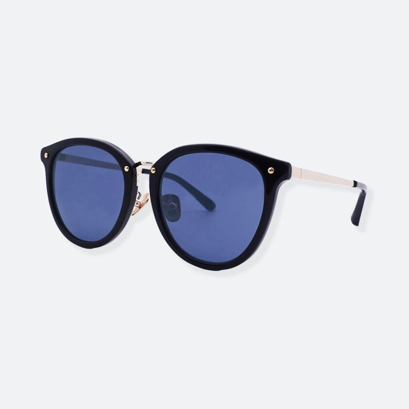 OhMart People By People - Round Acetate & Metal Sunglasses ( Non Disappear - Navy ) 2