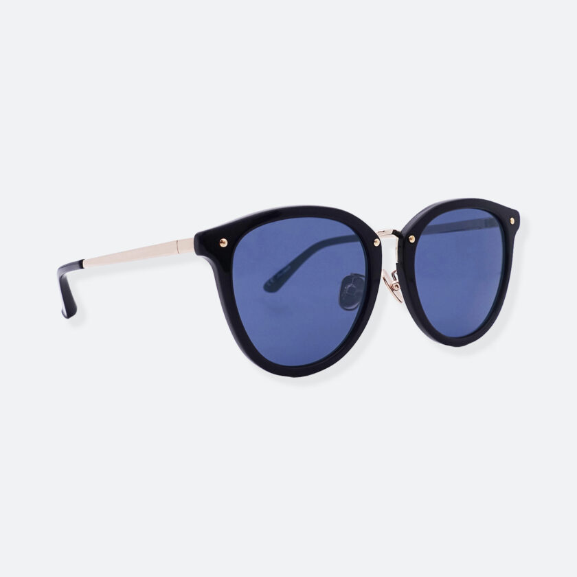 OhMart People By People - Round Acetate & Metal Sunglasses ( Non Disappear - Navy ) 3
