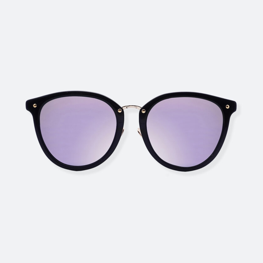 OhMart People By People - Round Acetate & Metal Sunglasses ( Non Disappear - Purple ) 1