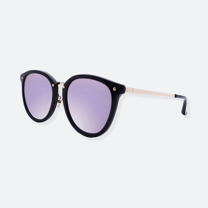 OhMart People By People - Round Acetate & Metal Sunglasses ( Non Disappear - Purple ) 2