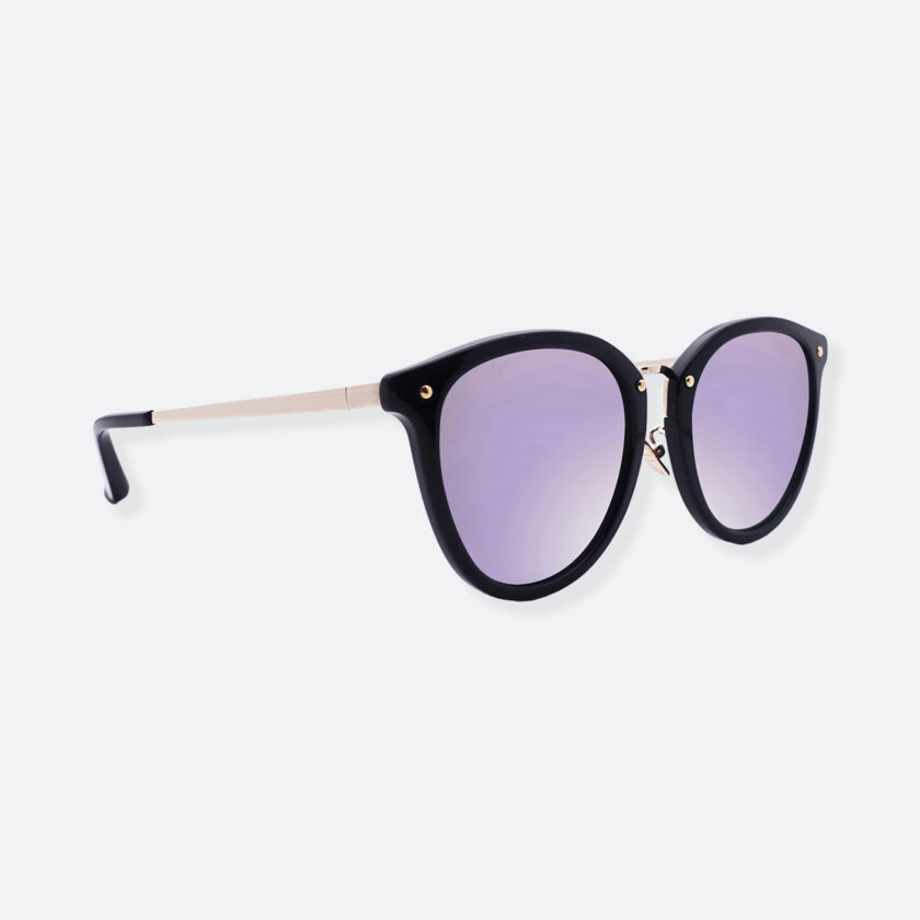 OhMart People By People - Round Acetate & Metal Sunglasses ( Non Disappear - Purple ) 3