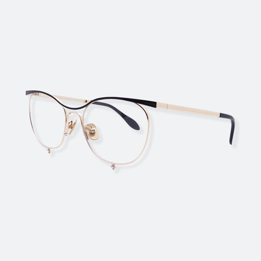 OhMart People By People - Browline Optical Glasses With Crystal from Swarovski ( Tears Of Love - Gold ) 2