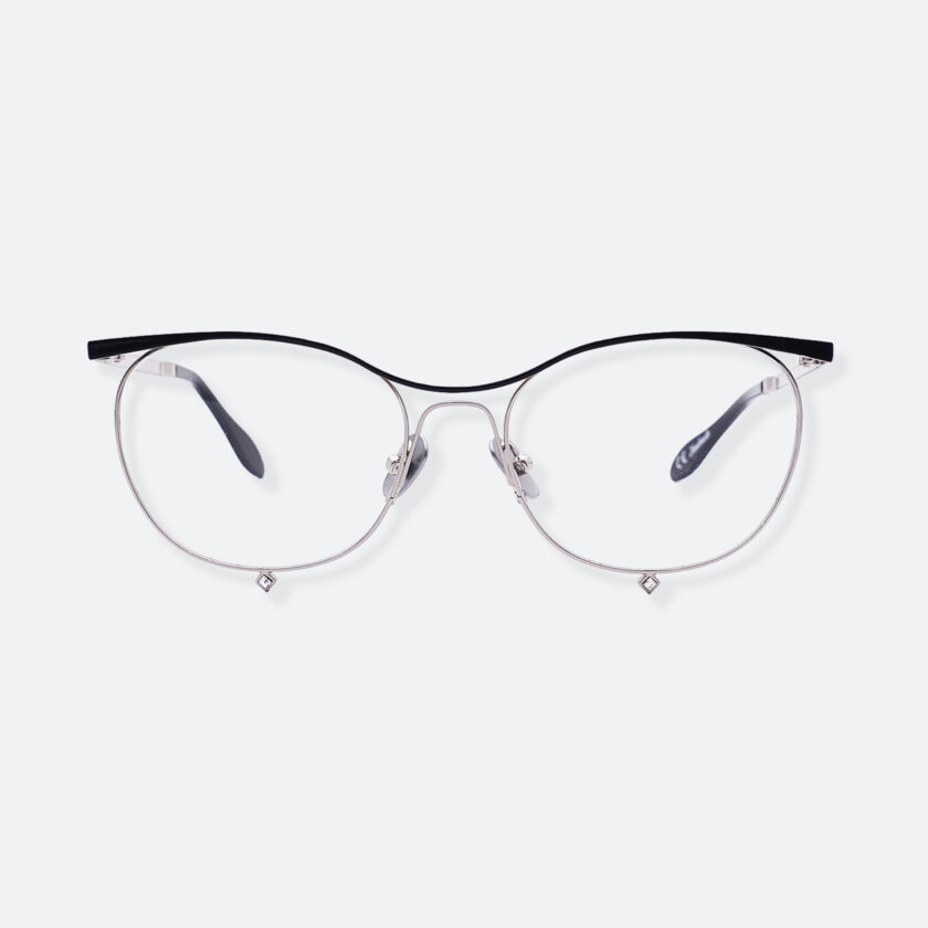OhMart People By People - Browline Optical Glasses With Crystal from Swarovski ( Tears Of Love - Silver ) 1