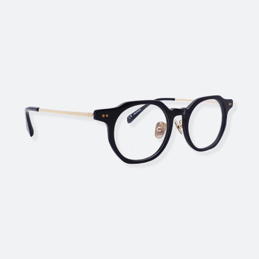 OhMart People By People - Wayfarer Acetate / Metal Optical Glasses ( Line Art - Gold ) 2
