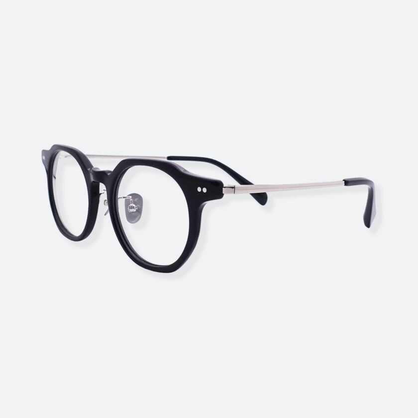 OhMart People By People - Wayfarer Acetate / Metal Optical Glasses ( Line Art - Silver ) 2