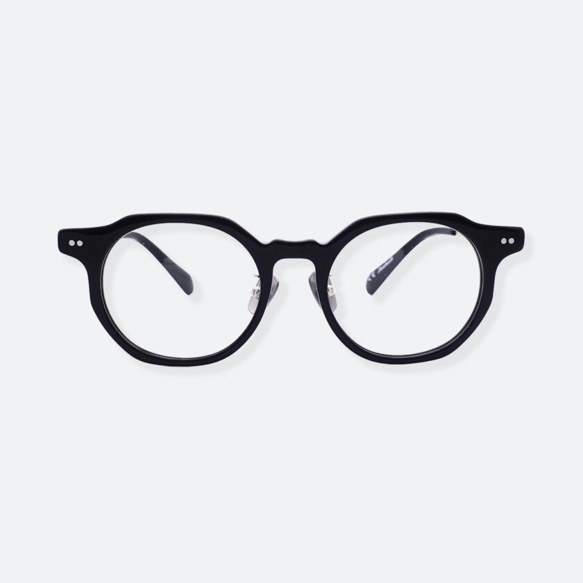 OhMart People By People - Wayfarer Acetate / Metal Optical Glasses ( Line Art - Gun Metal ) 1