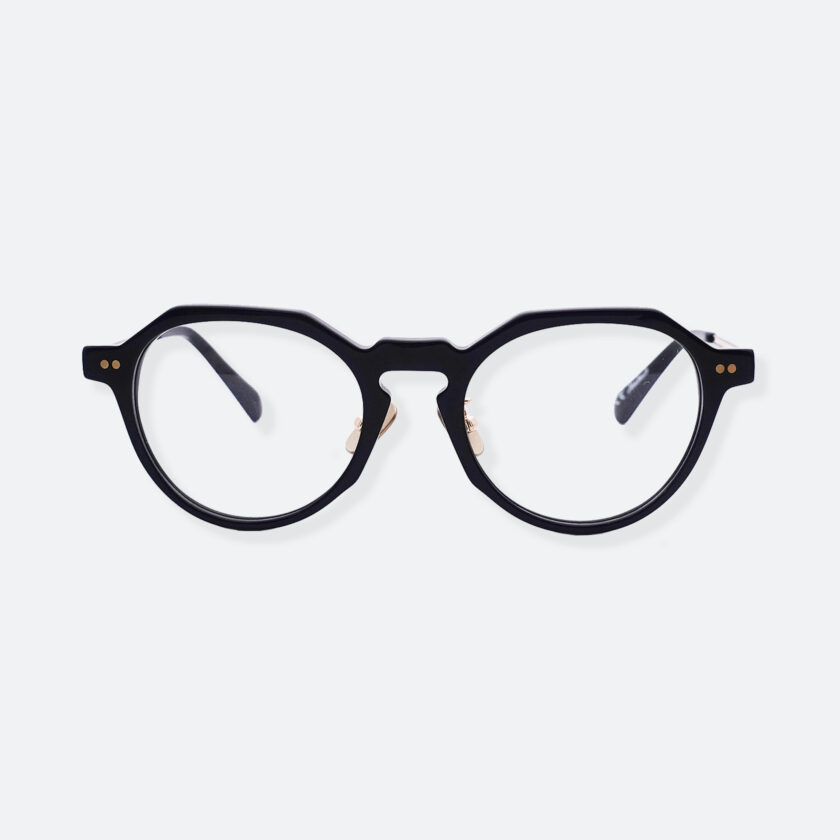 OhMart People By People - Wayfarer Round Acetate / Metal Optical Glasses ( Line Art Of Circle - Gold ) 1