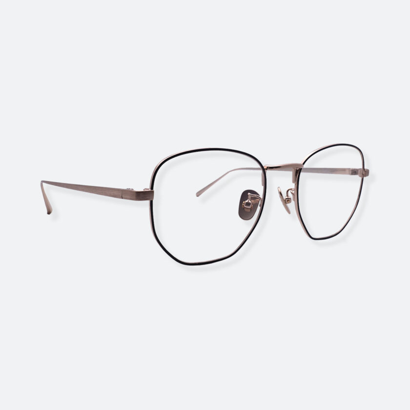 OhMart People By People - Round Metal Frame Optical Glasses ( SQ Literature - Gold ) 3