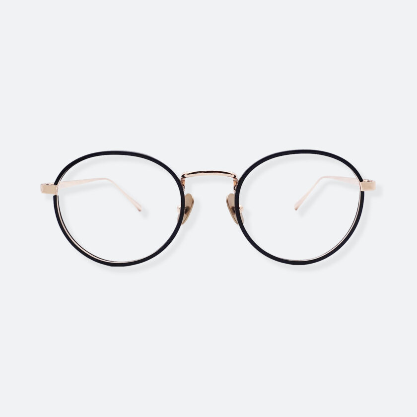 OhMart People By People - Round Acetate / Metal Optical Glasses ( O Literature - Black ) 1