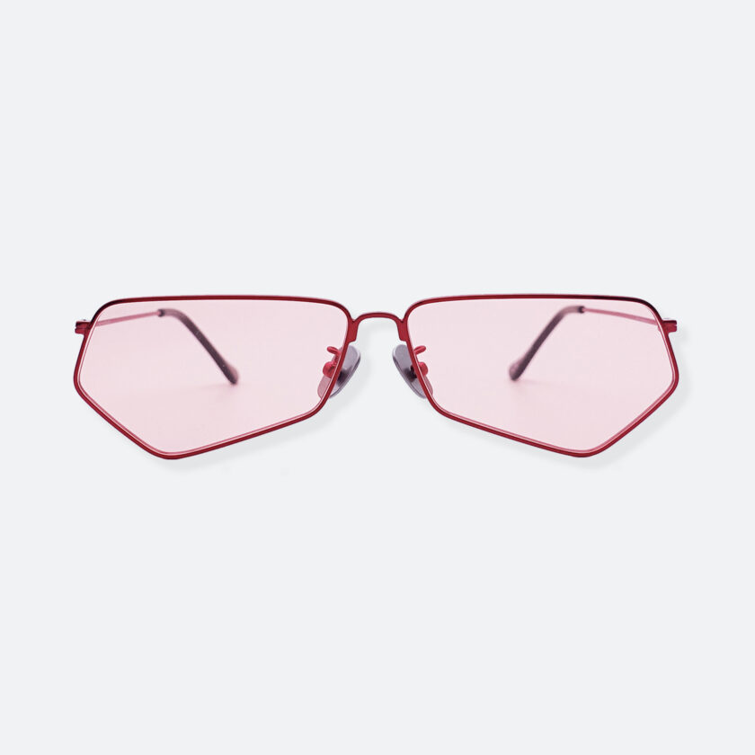 OhMart People By People - Minimal Pentagon Sunglasses ( PS004 col.1 - Pink / Red ) 1