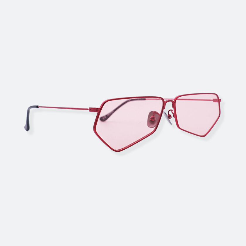 OhMart People By People - Minimal Pentagon Sunglasses ( PS004 col.1 - Pink / Red ) 3
