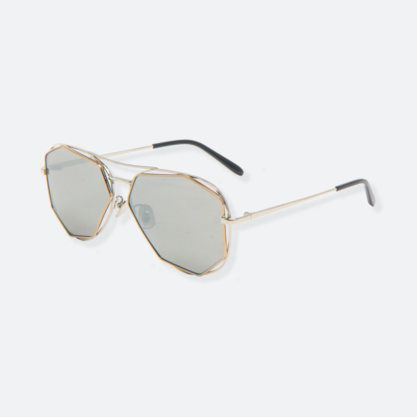 OhMart People by People - Aviator Sunglasses With Non-Polarized Lens ( Aviator - Gold Frame ) 2