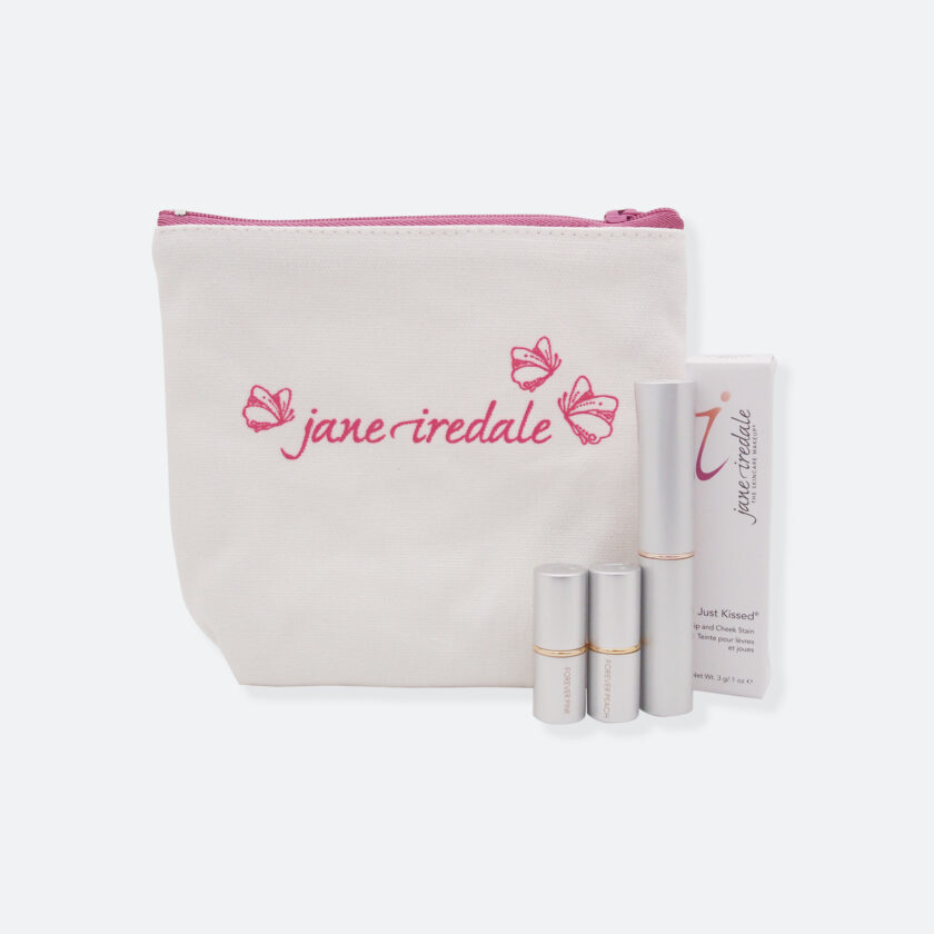 OhMart Jane Iredale Just Kissed Lip and Cheek Stain Set (Forever Peach) 1