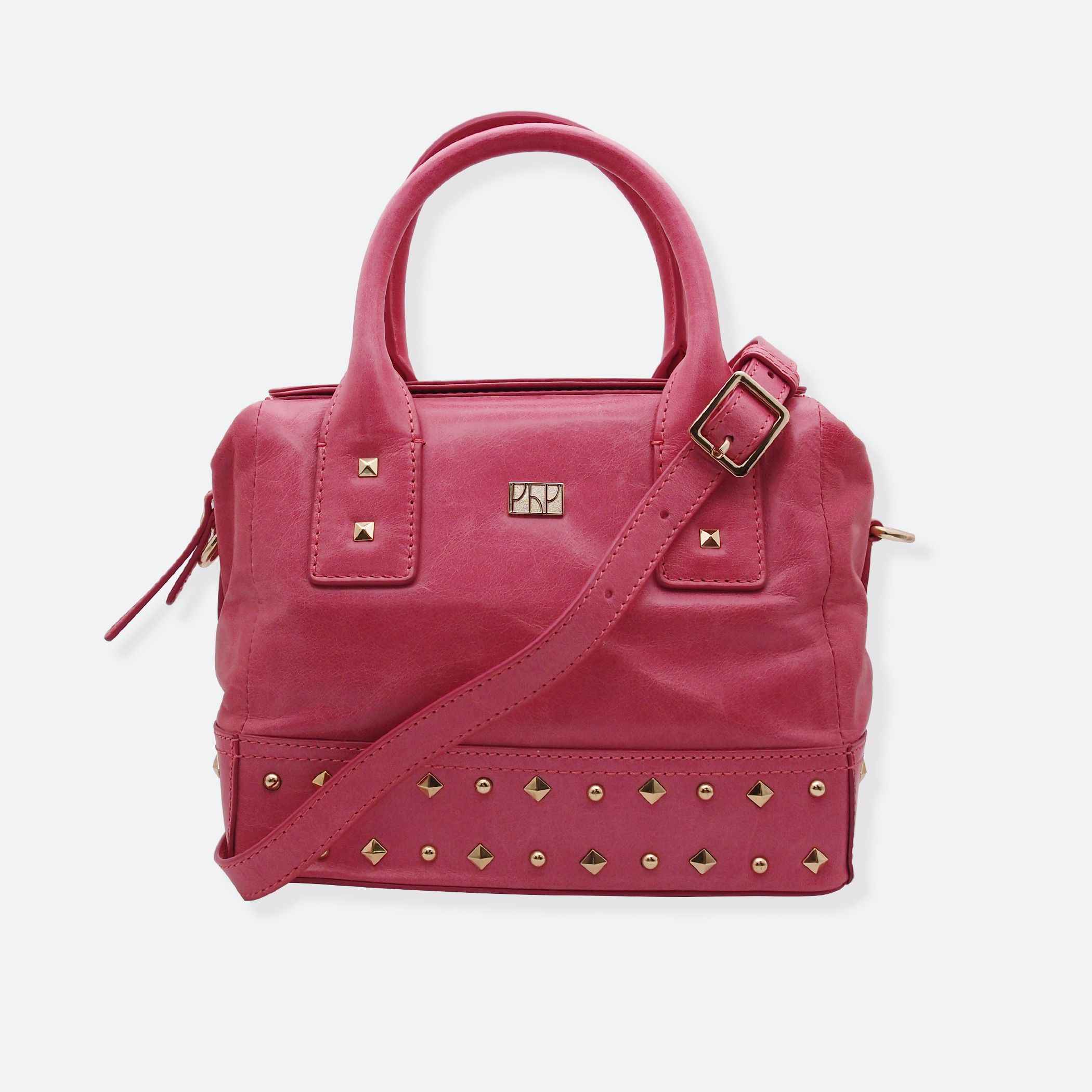 OhMart People By People - Leather Ding Satchel ( Pink ) 1
