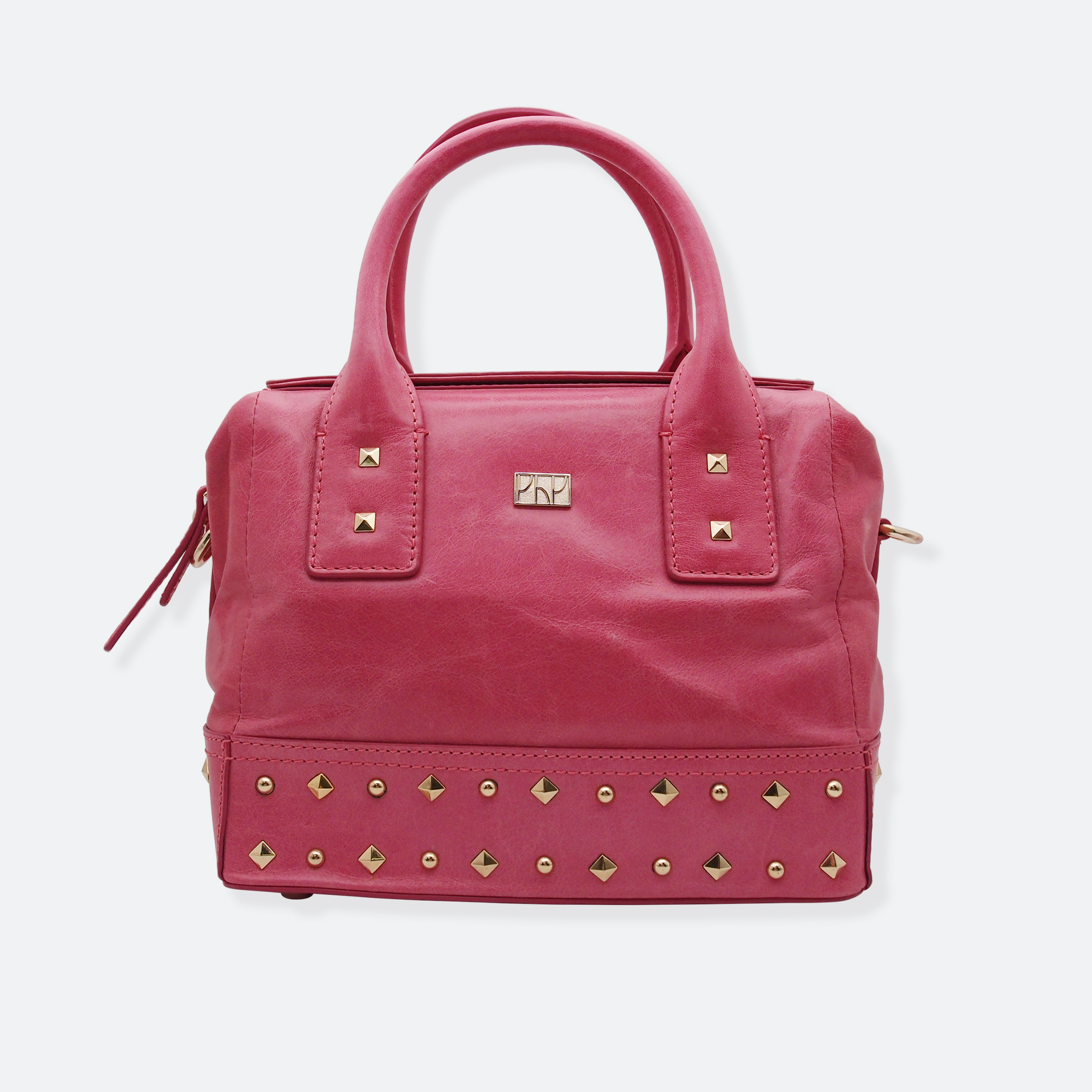 OhMart People By People - Leather Ding Satchel ( Pink ) 2