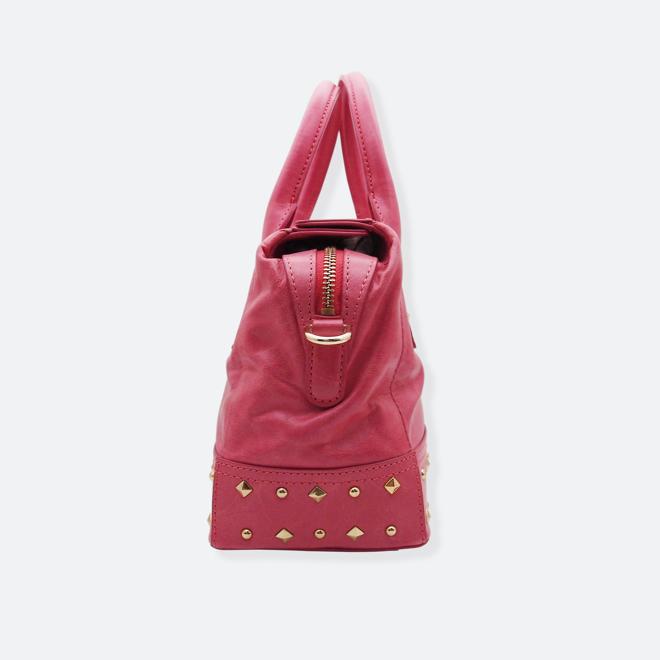 OhMart People By People - Leather Ding Satchel ( Pink ) 3