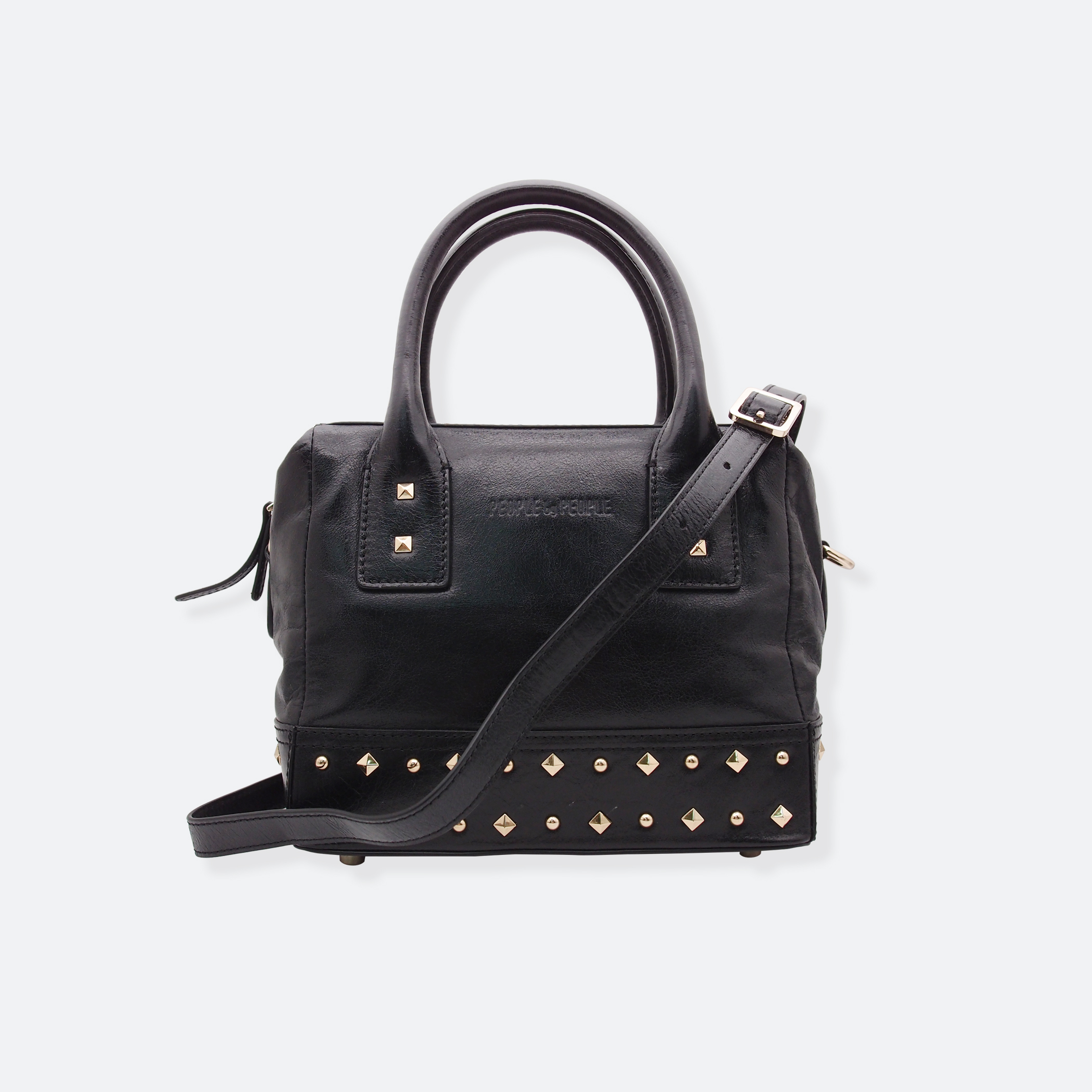 OhMart People By People - Leather Ding Satchel ( Black ) 1