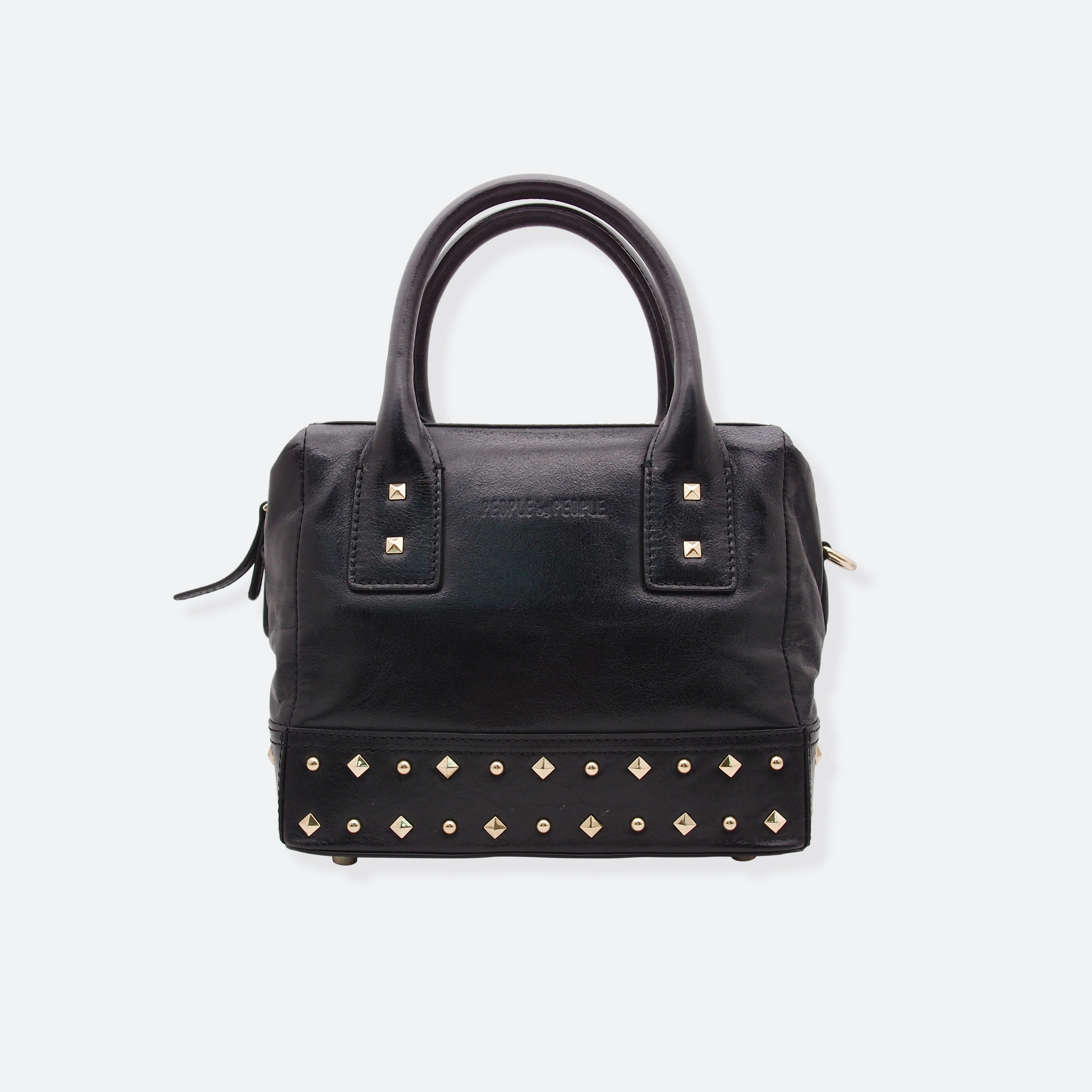 OhMart People By People - Leather Ding Satchel ( Black ) 2