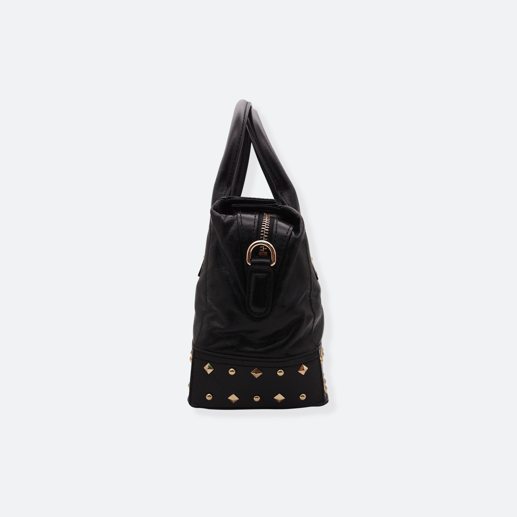 OhMart People By People - Leather Ding Satchel ( Black ) 3