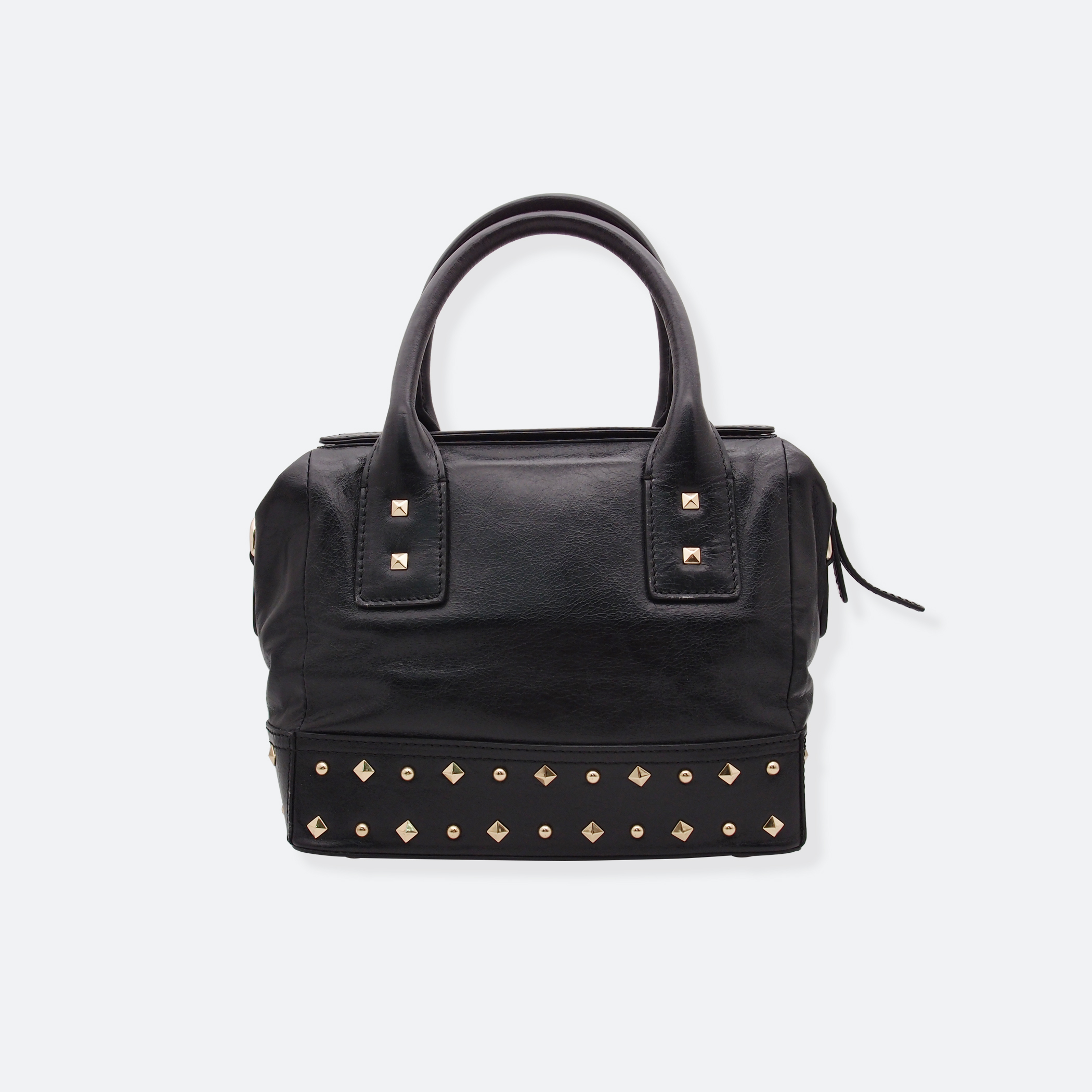 OhMart People By People - Leather Ding Satchel ( Black ) 4
