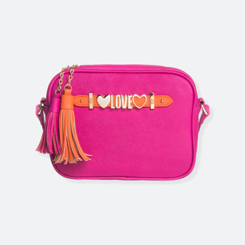 OhMart People by People - Leather Small Shoulder Bag ( B008 - Peach ) 1