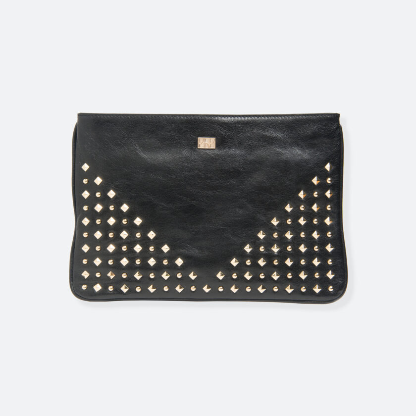 OhMart People By People - Leather V Ding Satchel ( Black ) 1