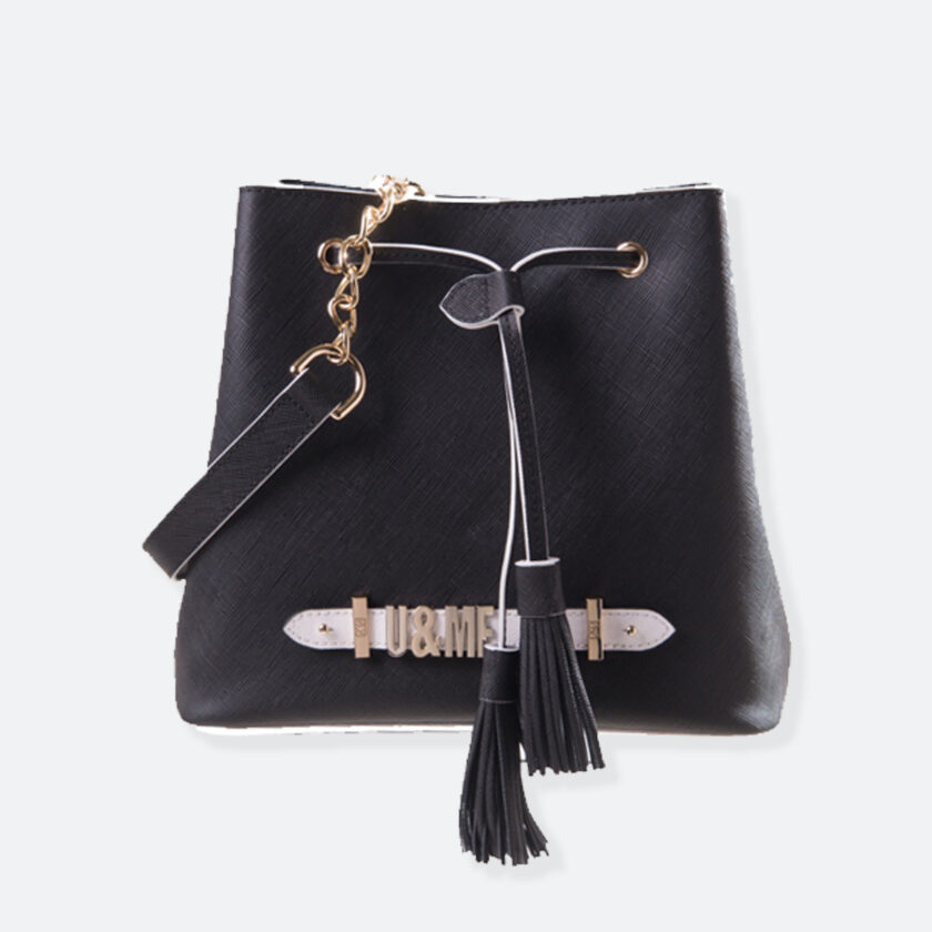 OhMart People by People – Leather Bucket Bag ( B015 - Black ) 1