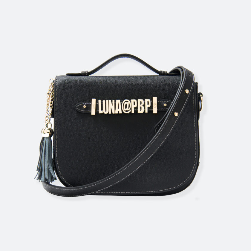 OhMart People By People - Leather Luna Bag ( Black ) 1