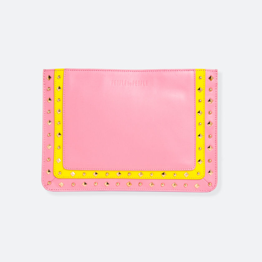 OhMart People by People – Leather Pouch ( B017 - Pink ) 1