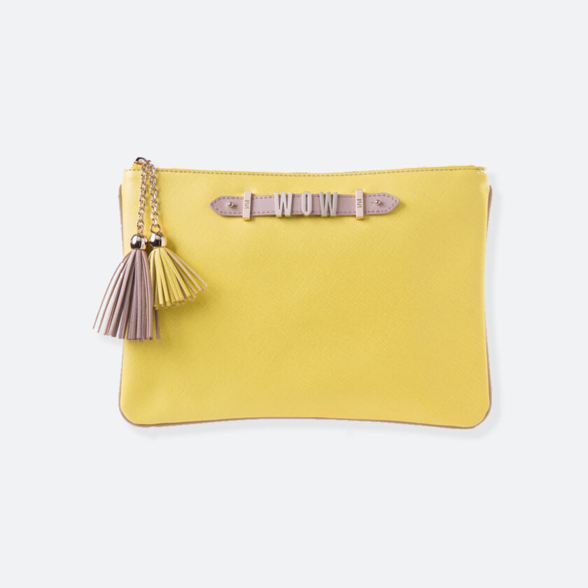 OhMart People by People – Leather Pouch ( B020 - Yellow ) 1