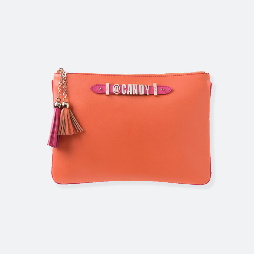 OhMart People by People – Leather Pouch ( B020 - Orange ) 1