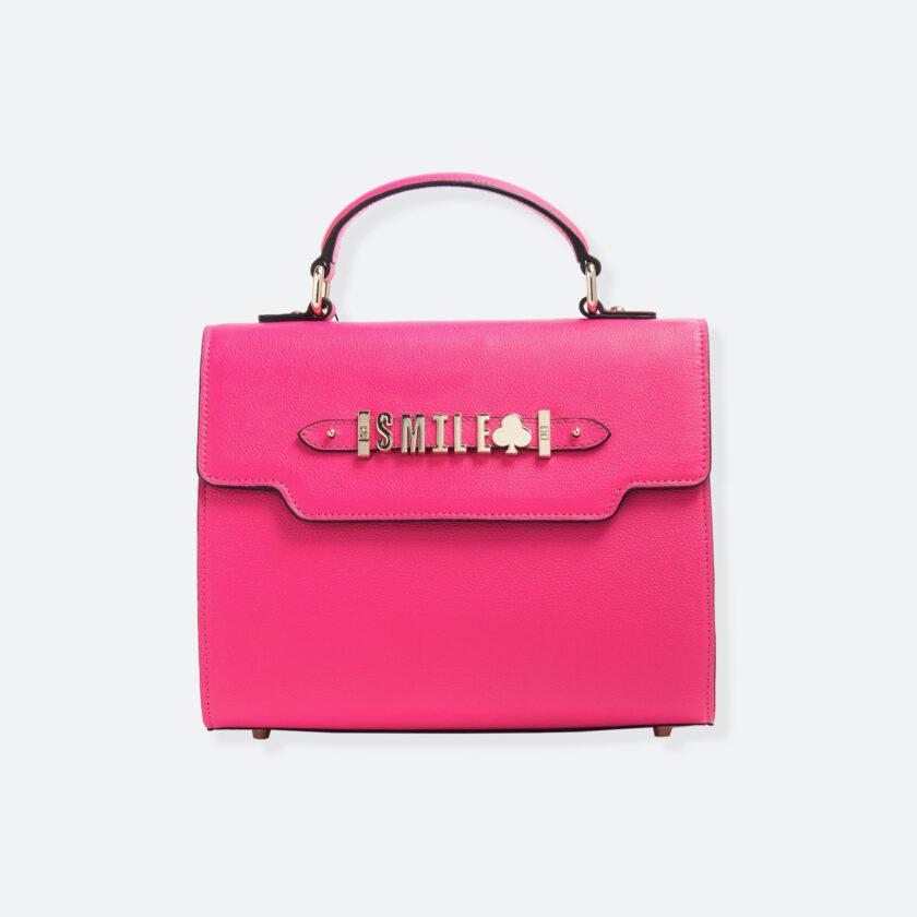 OhMart People By People - Leather Martini Handbag ( Peach ) 3