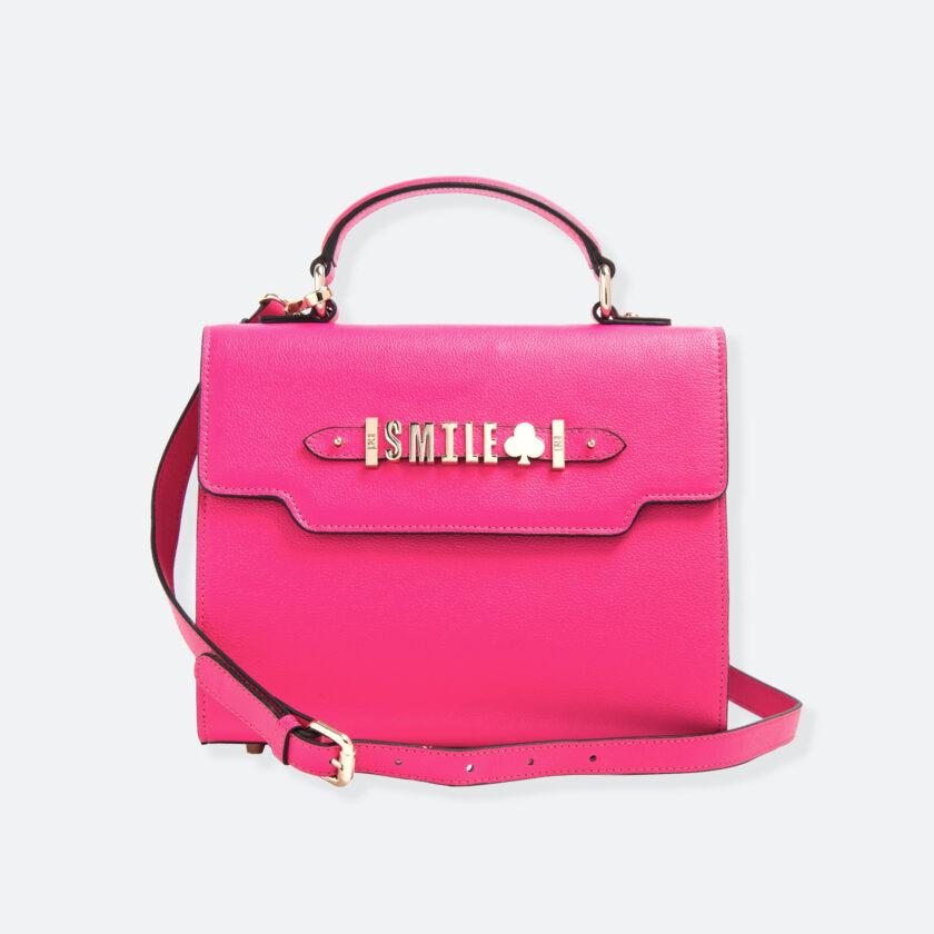 OhMart People By People - Leather Martini Handbag ( Peach ) 1
