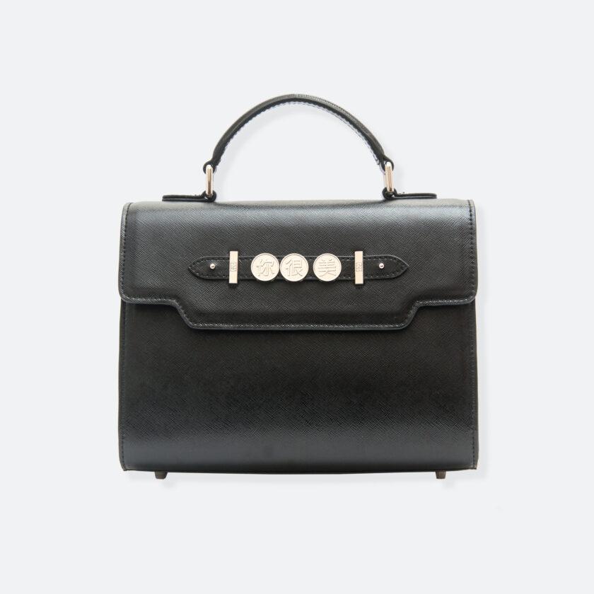 OhMart People By People - Leather Martini Handbag ( Black ) 3