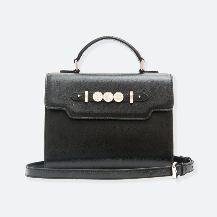 OhMart People By People - Leather Martini Handbag ( Black ) 1