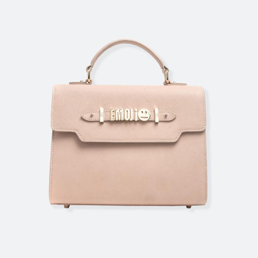 OhMart People By People - Leather Martini Handbag ( Pale Ivory ) 3