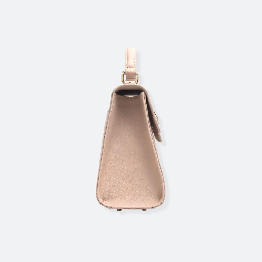OhMart People By People - Leather Martini Handbag ( Pale Ivory ) 2