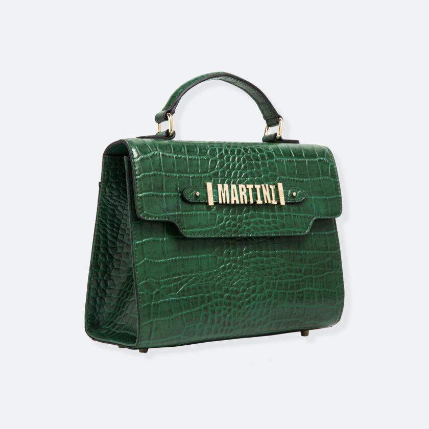 OhMart People By People - Leather Martini Handbag ( Green - Crocodile skin ) 2