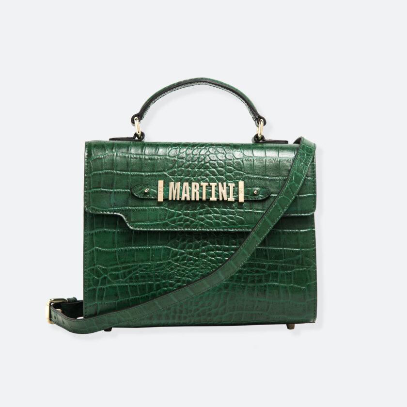 OhMart People By People - Leather Martini Handbag ( Green - Crocodile skin ) 1