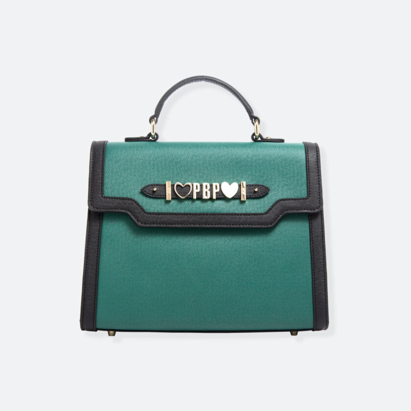 OhMart People By People - Leather Maxi Martini Handbag ( Green ) 3