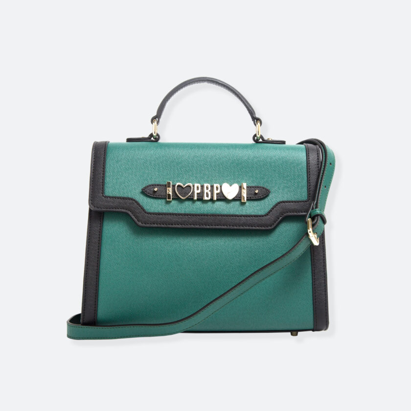 OhMart People By People - Leather Maxi Martini Handbag ( Green ) 1