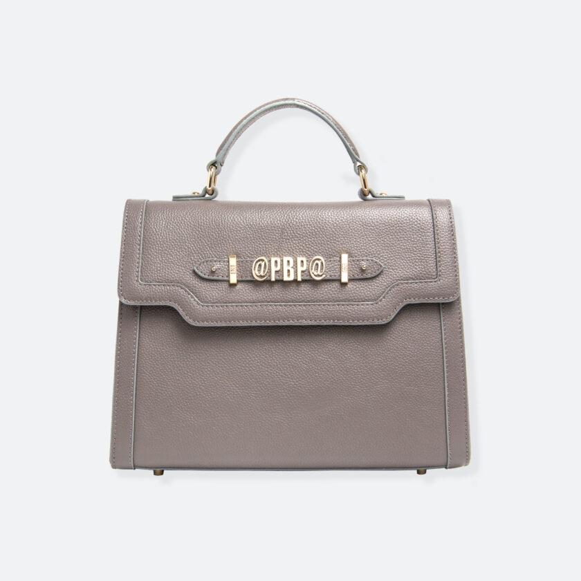 OhMart People By People - Leather Maxi Martini Handbag ( Metallic Brown ) 3