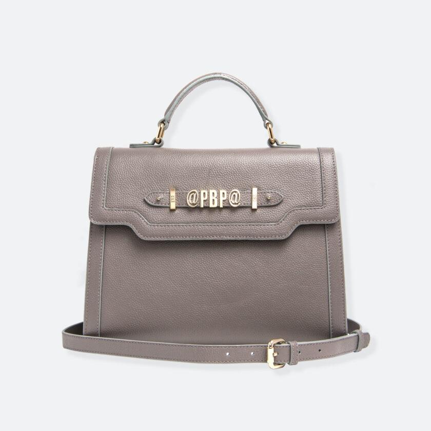OhMart People By People - Leather Maxi Martini Handbag ( Metallic Brown ) 1