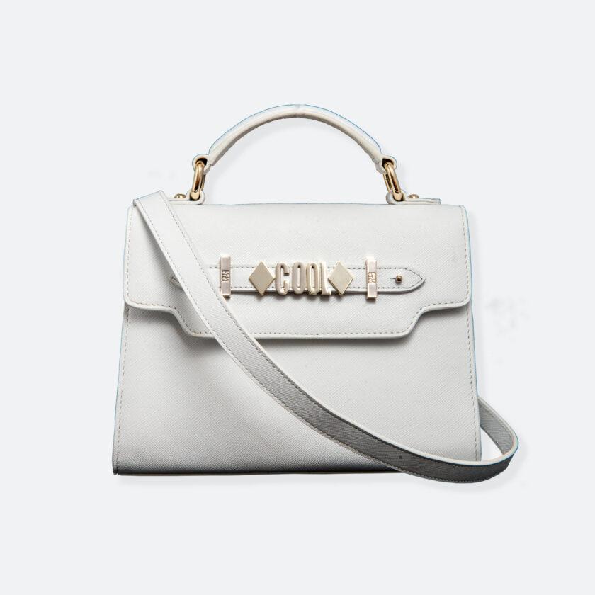 OhMart People By People - Leather Mini Martini Handbag ( White ) 1