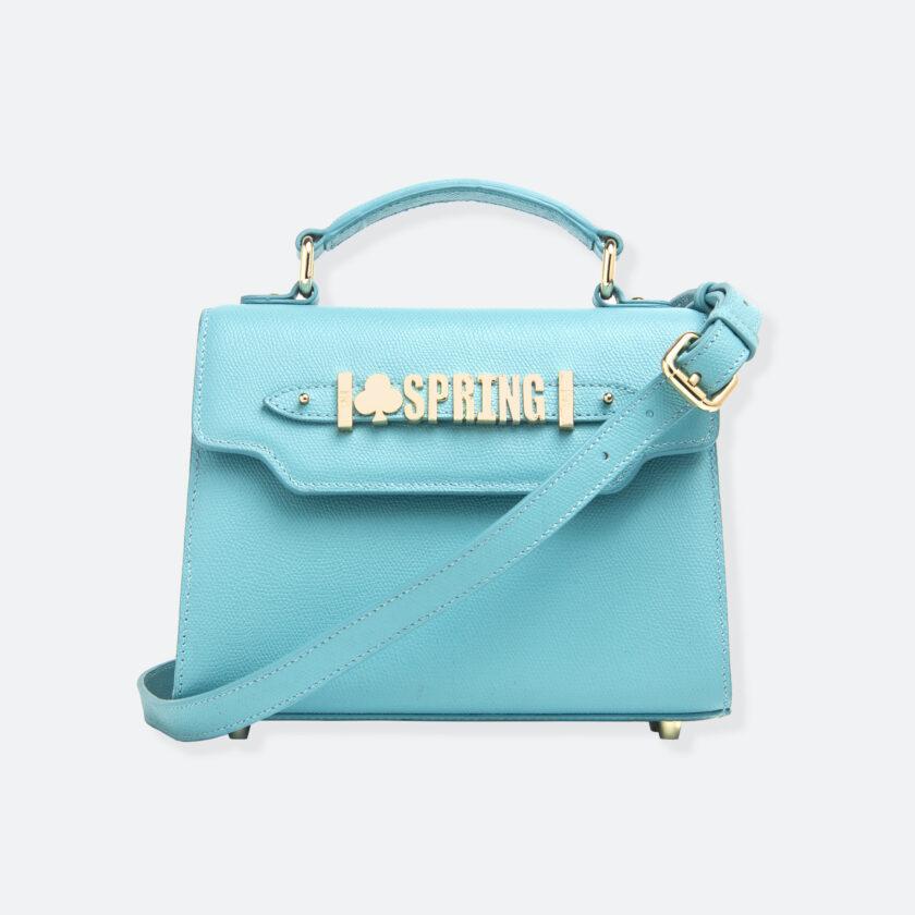 OhMart People By People - Leather Mini Martini Handbag ( Light Blue ) 1