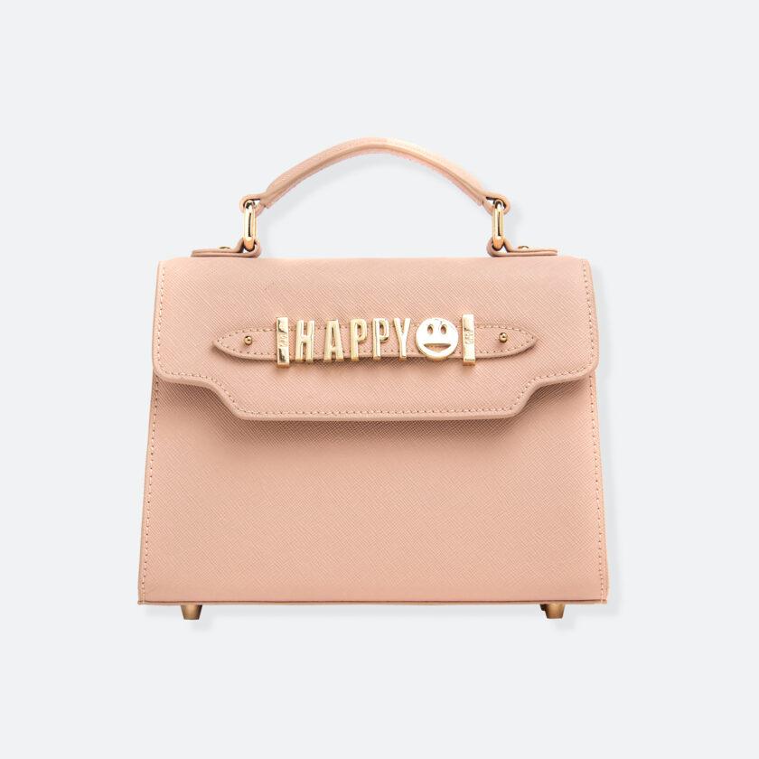 OhMart People By People - Leather Mini Martini Handbag ( Pale Ivory ) 3
