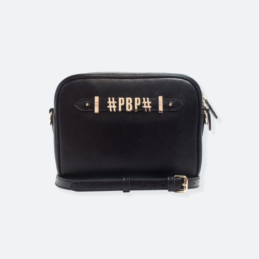 OhMart People By People - Leather Small Shoulder Bag ( B037 - Black ) 1
