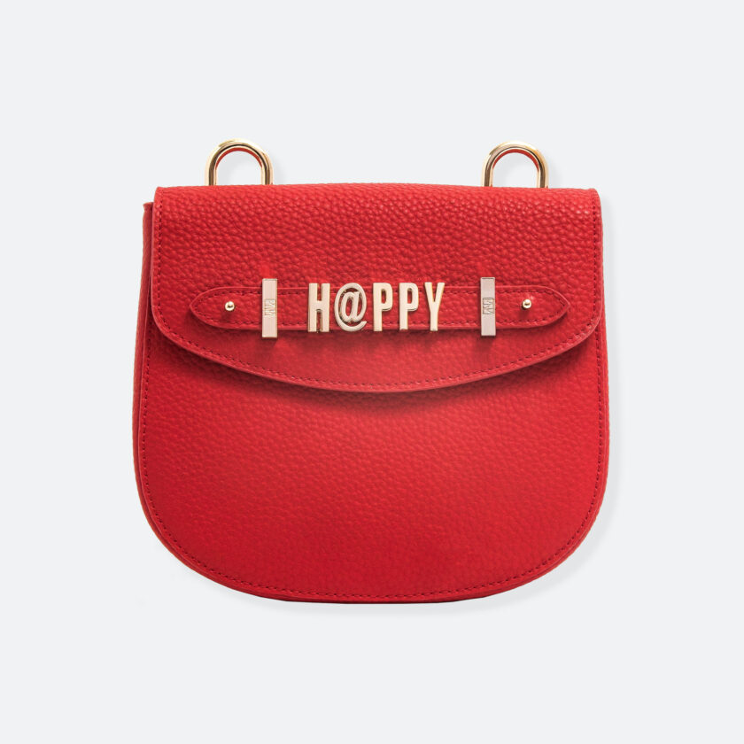 OhMart People By People - Leather Saddle Bag ( B040 - Red ) 3