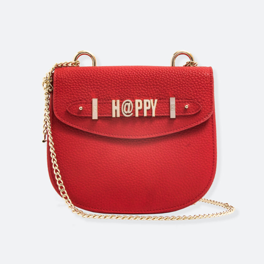 OhMart People By People - Leather Saddle Bag ( B040 - Red ) 1