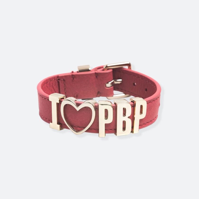 OhMart People by People - Playful Customizable leather Bracelet (Dark Pink) 1